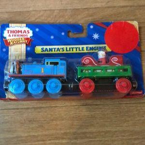 NIB Thomas the tank Santa's engine
